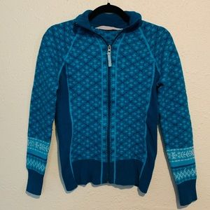 Athleta Wool Blend Zip Up Sweatshirt Size Medium